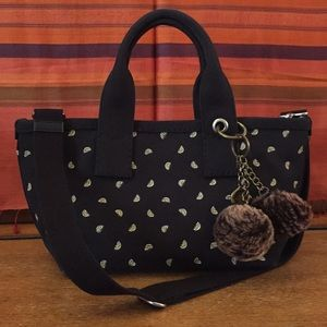 AUTHENTIC Mac Jacobs Canvas Tote black Embroidered